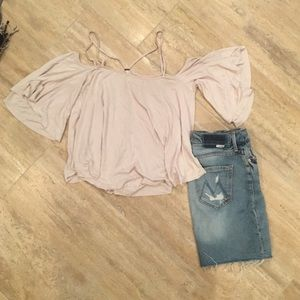 Spaghetti strap off the shoulder top by FP!
